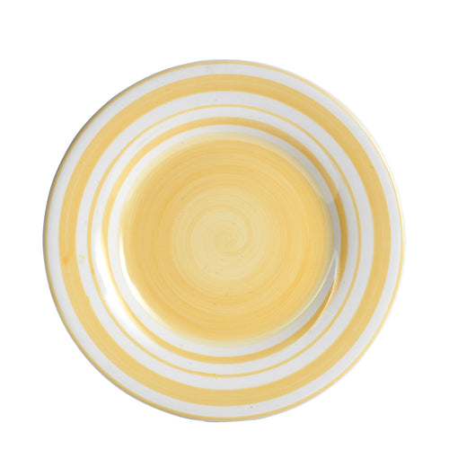 Lg Light Yellow Ringed Plate
