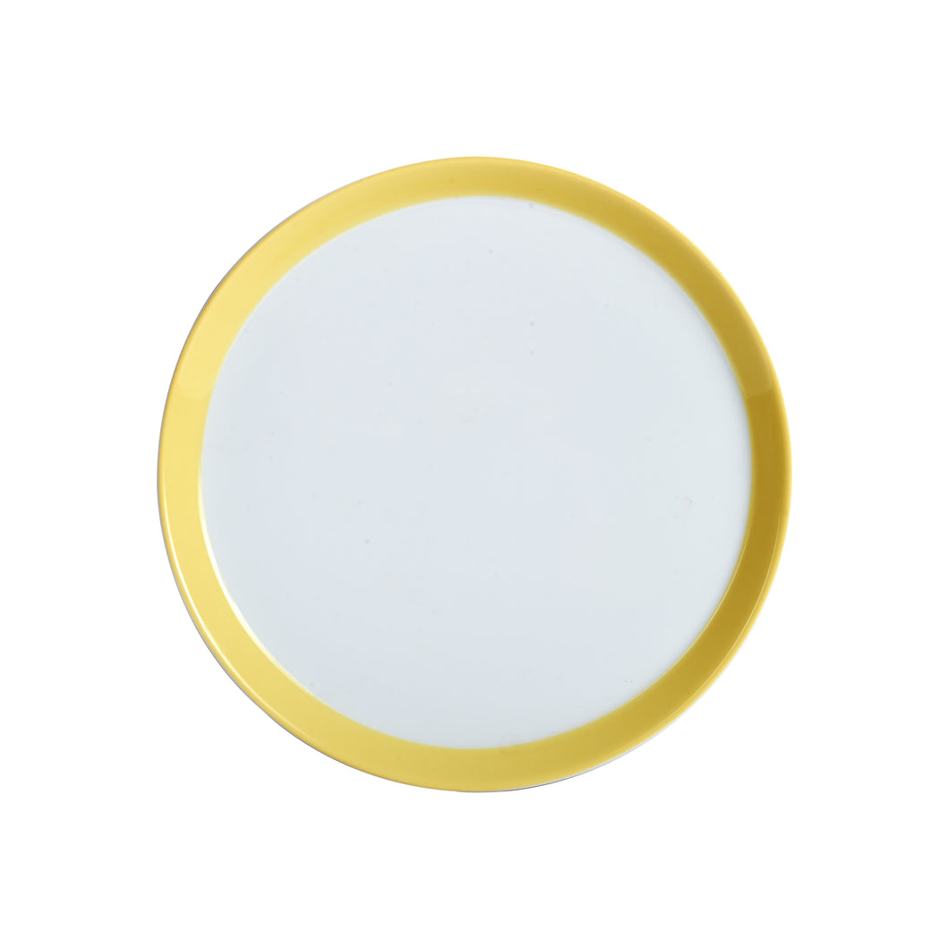 Md Shallow Plate With Yellow Rim