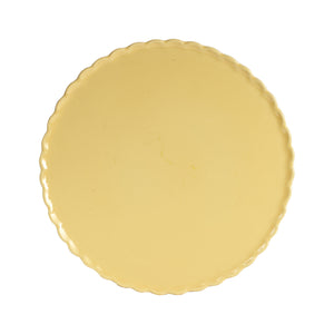 Lg Light Yellow Plate With Wavy Edges