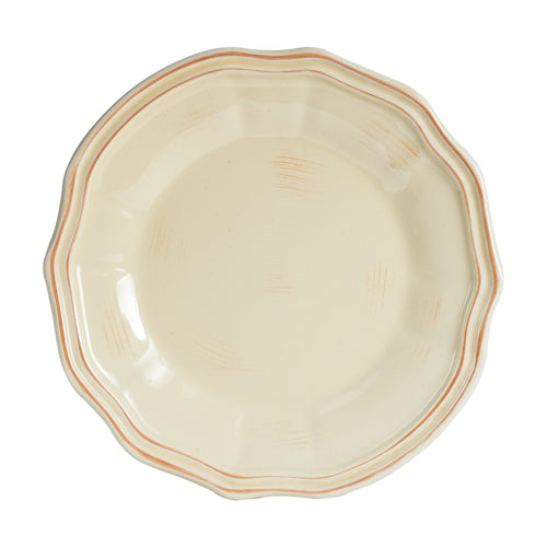 Lg Antique Pale Yellow Plate