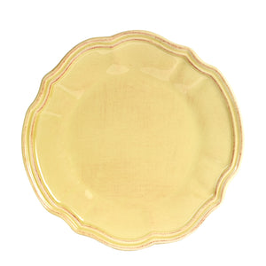 Lg Antique Light Yellow Plate