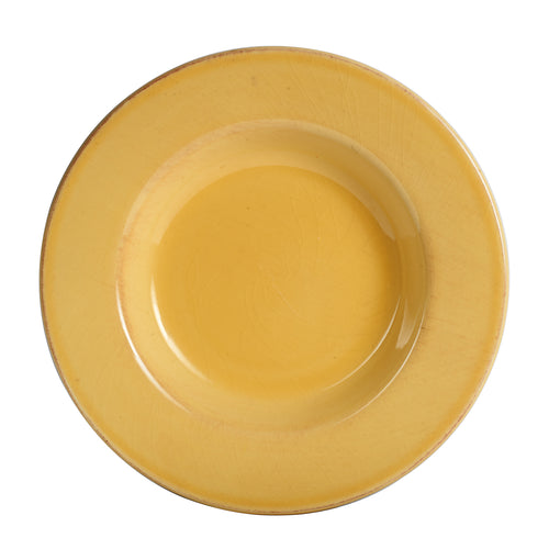 Lg Shallow Dull Yellow Plate