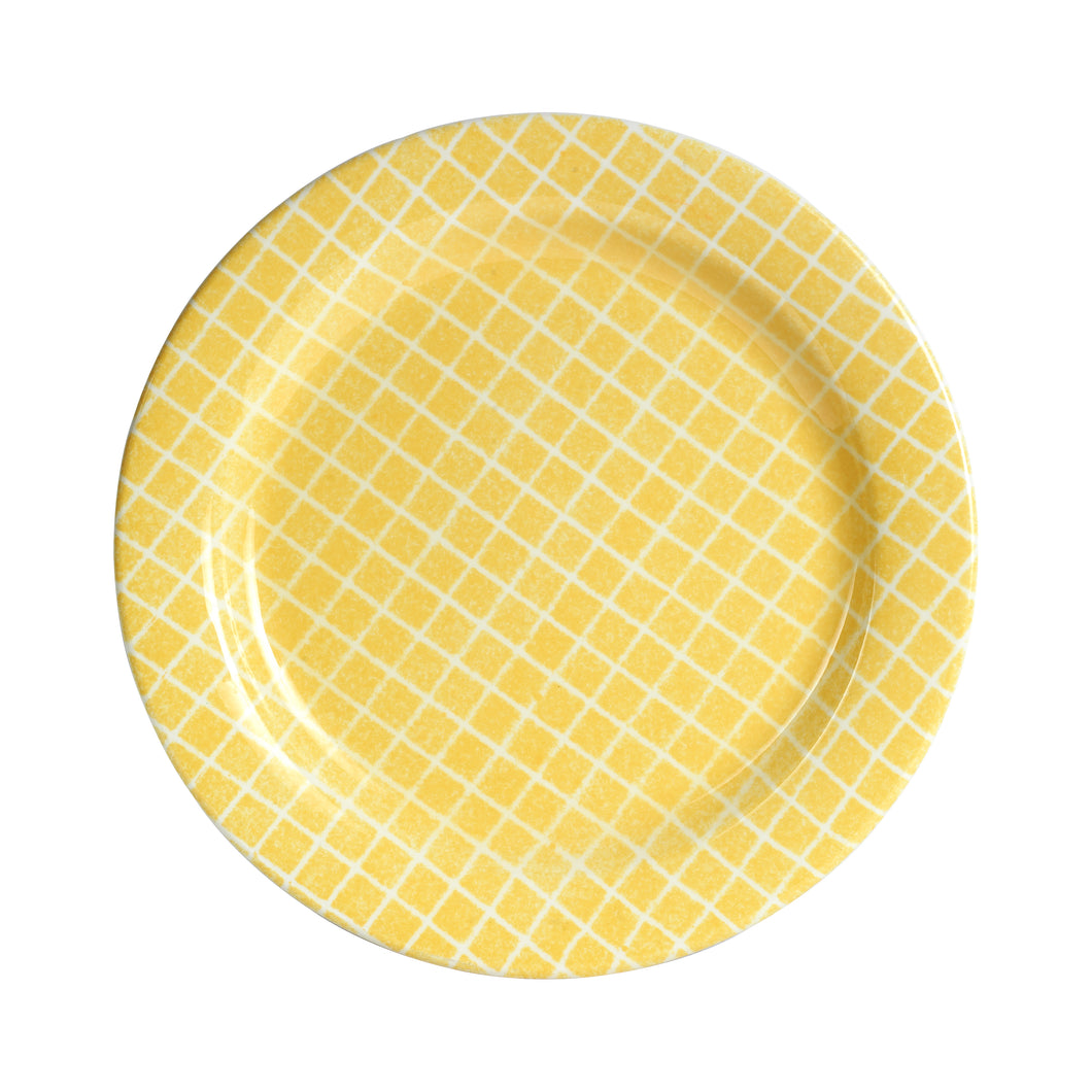 Lg Grided Yellow Plate