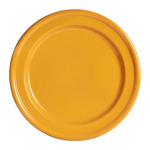 Lg Dark Yellow Fluted Plate