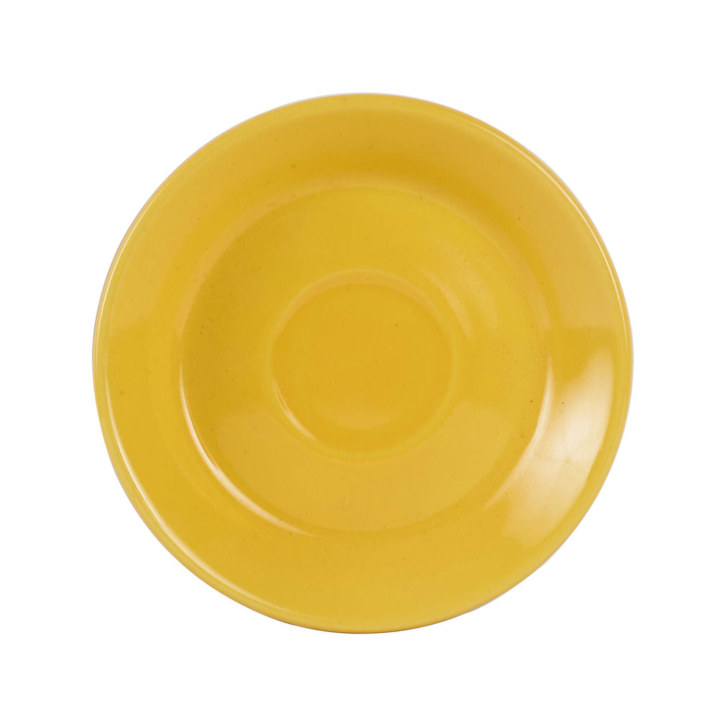 Sm Bright Yellow Tea Cup Saucer