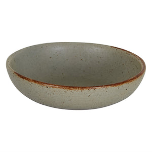 Md Shallow Rustic Grey Bowl