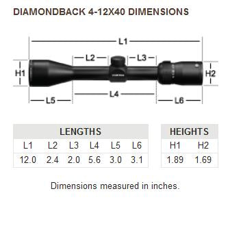 Diamondback 4-12x40 Riflescope