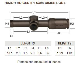 Razor® HD Gen II-E 1-6x24 Riflescope — VMR-2 Reticle