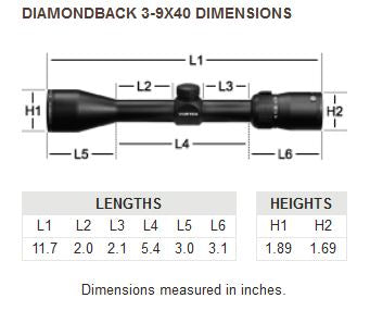 Diamondback 3-9x40 Riflescope