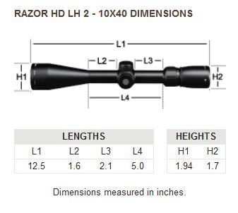 Razor HD LH™ 2-10 x 40 HSR-4 Riflescope