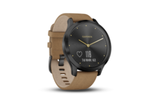 Garmin Vivomove HR Premium | Light Gold Stainless Steel Case with Light Brown Leather Band - Carolina Sportsman Outfitters