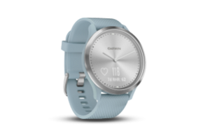 Garmin Vivomove HR Sport | Silver Stainless Steel Bezel with Sea Foam Case and Silicone Band - Carolina Sportsman Outfitters