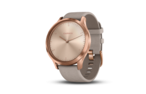 Garmin Vivomove HR Premium | Rose Gold Case with Gray Suede Band - Carolina Sportsman Outfitters