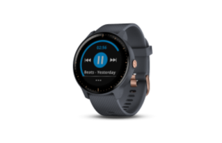 Vivoactive 3 Music | Granite Blue w/ Rose Gold Hardware - Carolina Sportsman Outfitters