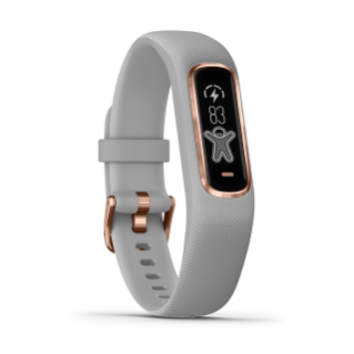 Garmin Vivosmart 4 | Small/Medium, Gray with Rose Gold Hardware - Carolina Sportsman Outfitters