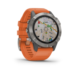 Fenix 6 Sapphire | Titanium w/ Ember Orange Band - Carolina Sportsman Outfitters
