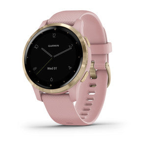 Garmin Vivoactive 4S | Dust Rose w/ Light Gold Hardware - Carolina Sportsman Outfitters