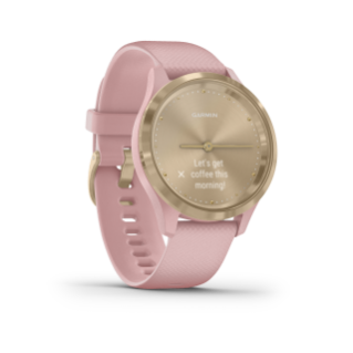 Garmin Vivomove 3S | Light Gold Stainless Steel Bezel with Dust Rose Case and Silicone Band - Carolina Sportsman Outfitters