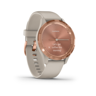 Garmin Vivomove 3S | Rose Gold Stainless Steel Bezel with Light Sand Case and Silicone Band - Carolina Sportsman Outfitters
