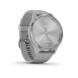 Garmin Vivomove 3 | Silver Stainless Steel Bezel with Powder Gray Case and Silicone Band - Carolina Sportsman Outfitters