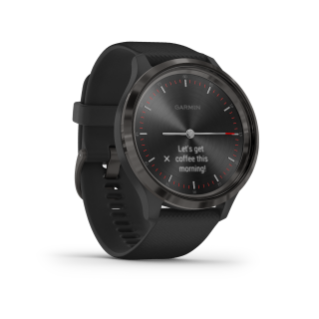 Garmin Vivomove 3 | Slate Stainless Steel Bezel with Black Case and Silicone Band - Carolina Sportsman Outfitters