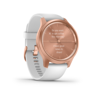 Garmin Vivomove 3 Style | Rose Gold Aluminum Case with White Silicone Band - Carolina Sportsman Outfitters