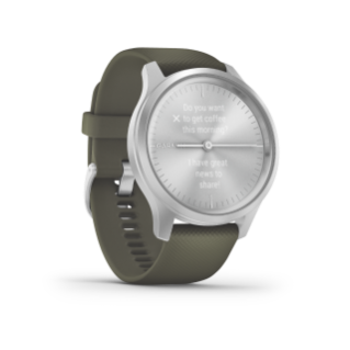 Garmin Vivomove 3 Style | Silver Aluminum Case with Moss Silicone Band - Carolina Sportsman Outfitters