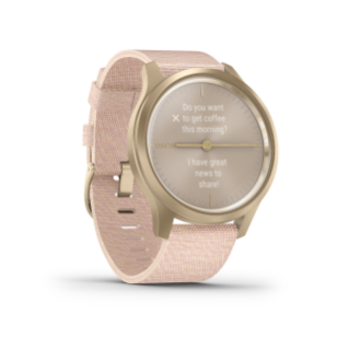 Garmin Vivomove 3 Style | Light Gold Aluminum Case with Blush Pink Woven Nylon Band - Carolina Sportsman Outfitters