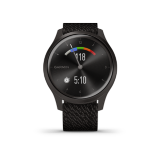 Garmin Vivomove 3 Style | Graphite Aluminum Case with Black Pepper Woven Nylon Band - Carolina Sportsman Outfitters