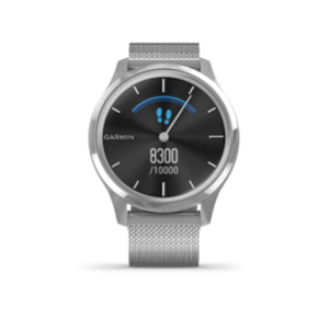 Garmin Vivomove 3 Luxe | Silver Stainless Steel Case with Silver Milanese Band - Carolina Sportsman Outfitters