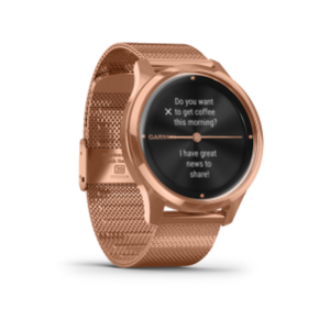 Garmin Vivomove 3 Luxe | 18K Rose Gold Stainless Steel Case With Rose Gold Band - Carolina Sportsman Outfitters