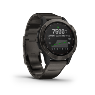 Fenix 6 Pro Solar Edition | Titanium Carbon Gray DLC with Titanium DLC Band
