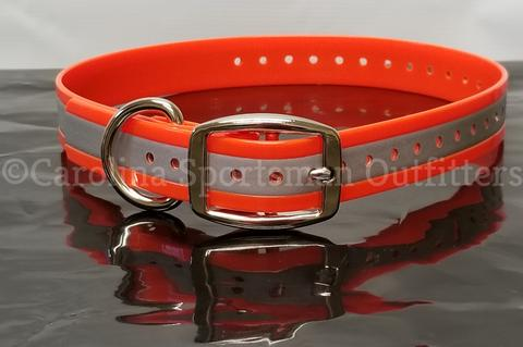 16x3/4 inch D-Ring Dog Collar with FREE NAME PLATE - Carolina Sportsman Outfitters