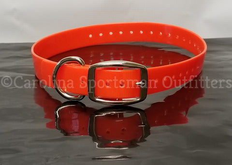 20x1 inch D-Ring Collar with FREE NAME PLATE
