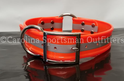 20x1.5 inch Center O-Ring Dog Collar with FREE NAME PLATE - Carolina Sportsman Outfitters