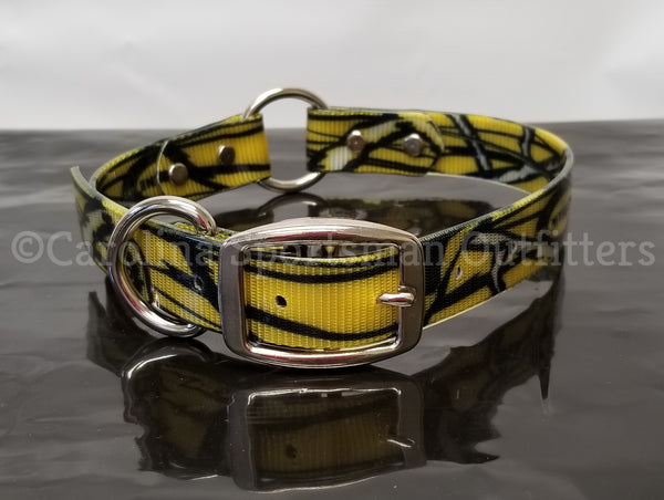 20x1 inch Center O-Ring Dog Collar with FREE NAME PLATE - Carolina Sportsman Outfitters