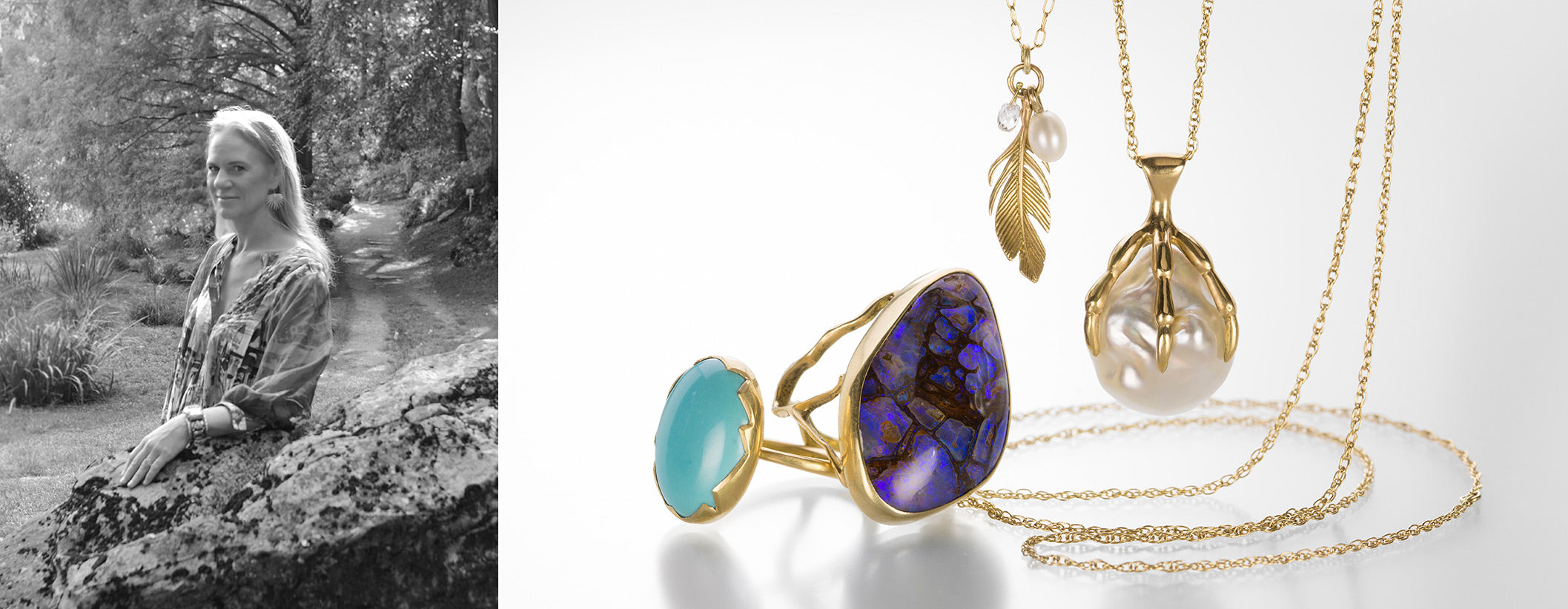 Annette Ferdinandsen | Designer Jewelry | Shop Annette Ferdinandsen jewelry at Quadrum, in the Greater Boston Area, featuring an extensive collection of nature inspired earrings, rose petal necklaces, bold statement cuffs and cracked egg bezel set gemstone rings.