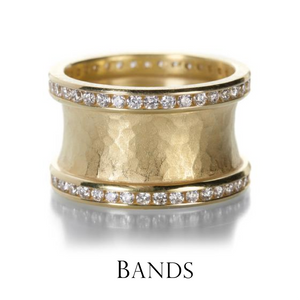 The symbolism of a band of gold parallels infinity, or the neverending circle. Stack bands together to tell your story through personalized jewelry choices. Central to any story, this meticulously crafted 18k yellow gold band from Barbara Heinrich stuns.