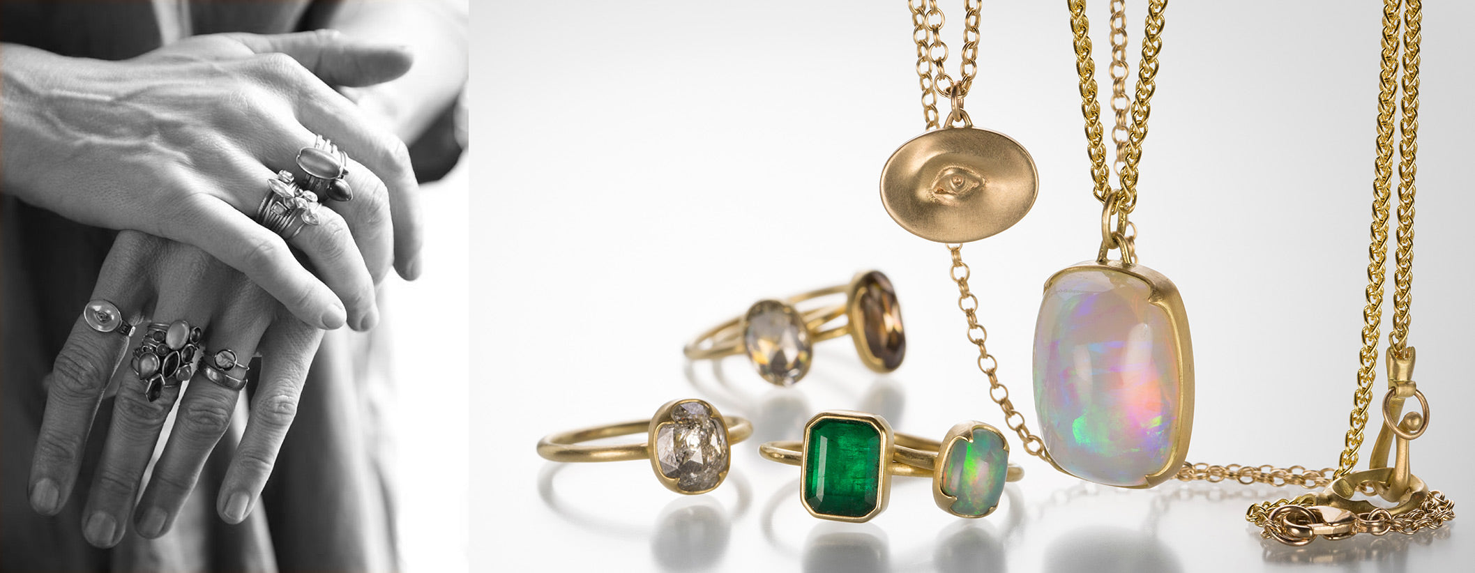Gabriella Kiss | Designer Jewelry | Shop Gabriella Kiss jewelry at Quadrum, located in the Greater Boston Area, featuring an extensive collection of handcrafted gemstone earrings, snake hoops, love token rings, gemstone rings, snake rings and necklaces.