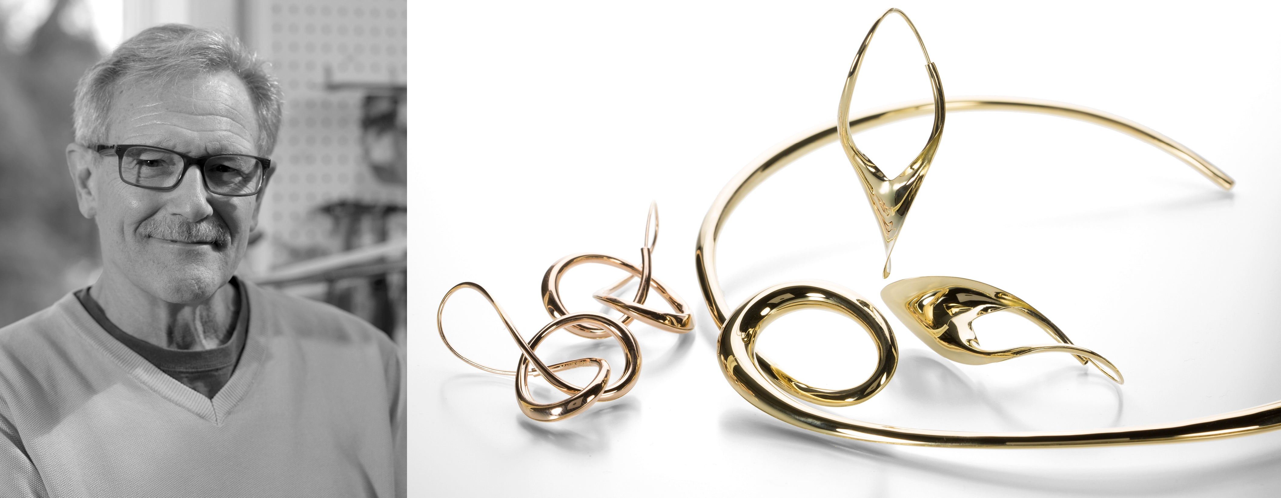 michael good, michael good hoops, hoops, hoop earrings, hollow hoops, 18k hoops, sterling silver hoops