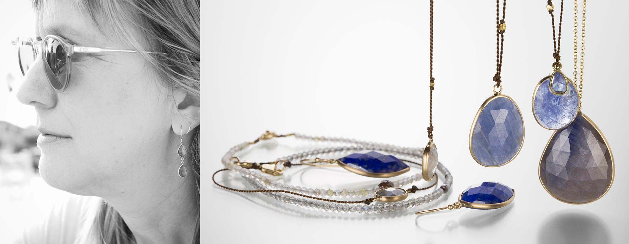 Shop Margaret Solow jewelry at Quadrum, located in the Greater Boston Area, featuring an extensive collection of gemstone necklaces on nylon cords, beaded bracelets and tiny diamond pendants.