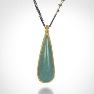 Amali Teardrop Aquamarine Necklace | Quadrum Gallery