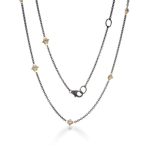 Amali Pearl Textile Station Necklace | Quadrum Gallery