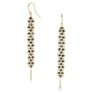 Amali Black Diamond Textile Earring | Quadrum Gallery