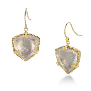 Amali White Topaz Geometric Earrings | Quadrum Gallery