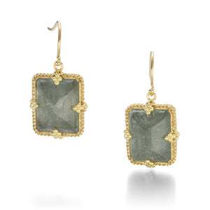 Amali Rectangle Aquamarine Earrings | Quadrum Gallery