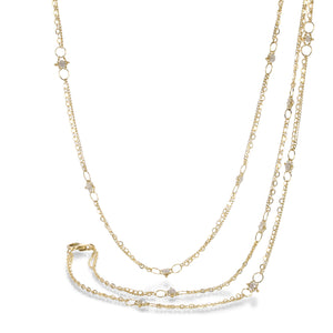 Amali Silver Diamond Whisper Necklace | Quadrum Gallery