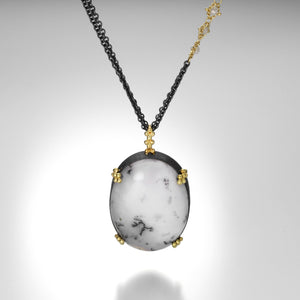 Amali Dendritic Opal Necklace | Quadrum Gallery