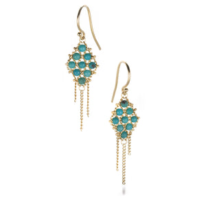 Amali Small Turquoise Textile Earrings | Quadrum Gallery