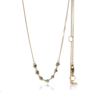 Amali Blue Diamond Textile Bar Station Necklace  | Quadrum Gallery